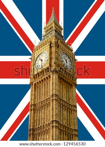 Big Ben with union jack