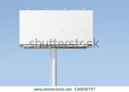 Big billboard advertising sign Stock foto ©