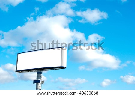 Big billboard with blank space and very clean ready to put your ad.
