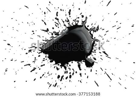 Big black ink splatter #377153188