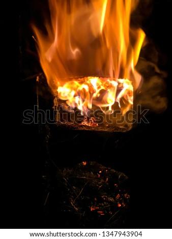 Big blazing fire. #1347943904
