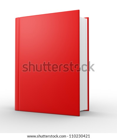 Big book. 3d render illustration