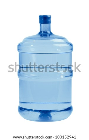 big bottle of water for delivery, isolated on white
