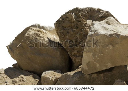 Big boulders isolated