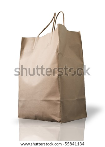 Big Brown Crumpled paper Bag form the market