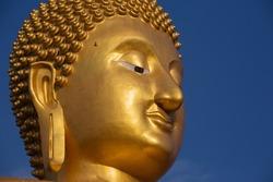 Big Buddha at Muang Ang Thong temple, Thai temple in Asia