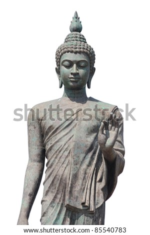 Big Buddha image isolate on white background