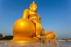 Big buddha in Wat Muang at Ang Thong Province popular Buddhist shrine in Thailand.