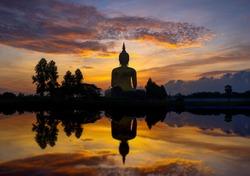 big buddha statue and reflection