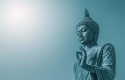Big buddha statue  at Monthon background