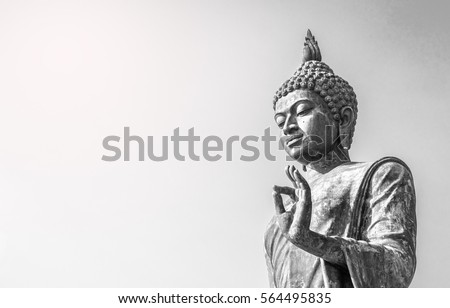 Big buddha statue  at phutthaMonthon background
