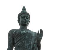 Big Buddha statue in Buddist park at Phutthamonthon, Nakhon Pathom, Thailand.