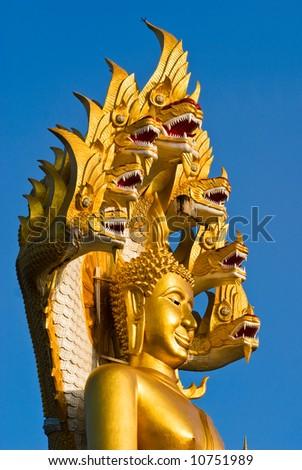 Big Buddha statue in North thailand.