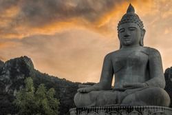 Big Budha in lampang Norh of Thailand