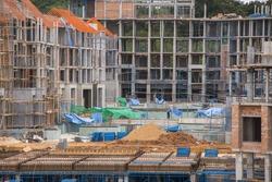 Big building construction.