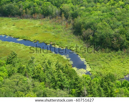 Big Carp River at Porcupine Mountains State Park in Michigans upper peninsula - stock photo