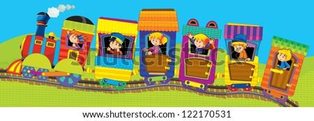 The cartoon trains