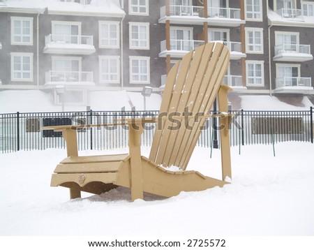 big chair on snow