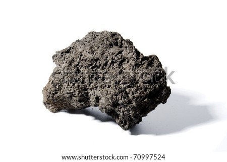 Big chunk of black lava - stock photo