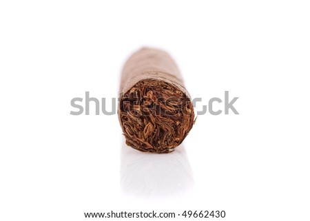 Big cigar isolated on a white background