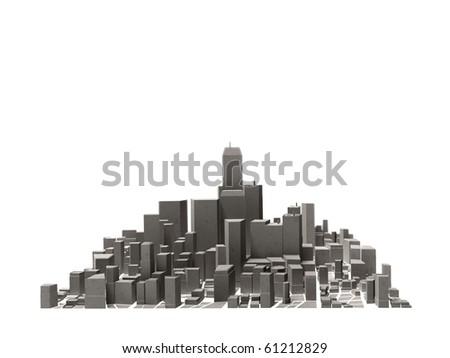 big city - stock photo
