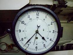 Big Clock Device in Decommissioned Submarine Vessel