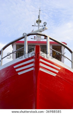 big close up of front fisher boat #36988585
