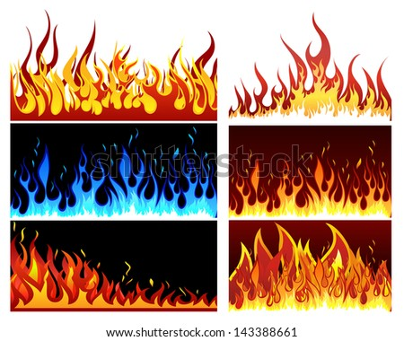 Big collection of fire elements.
