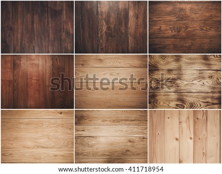 Big collection of wood background #411718954