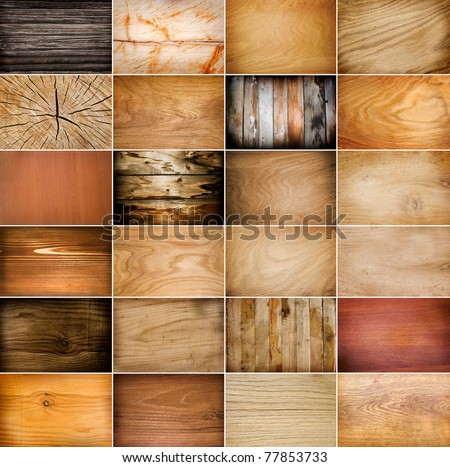 Big collection of wood background - stock photo