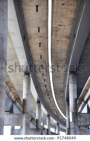 big concrete highway under construction