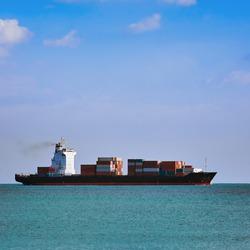 Big Container Ship in the Black Sea