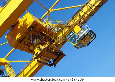 Big crane for cargo containers