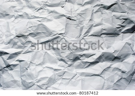 Big crumpled paper background for art design.