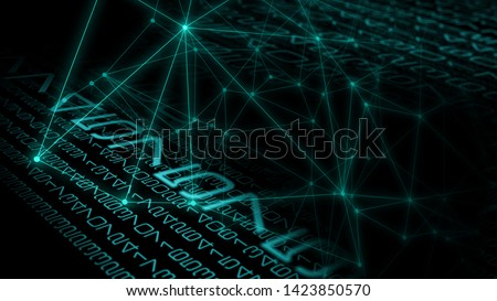 Big data abstract backgrounds, science fiction digital space war
