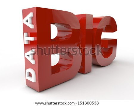 Big Data in red and white letters.