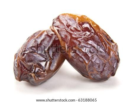 Big Dates Fruit Big Date Dried Fruit Closeup
