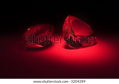 big diamonds at red lighting