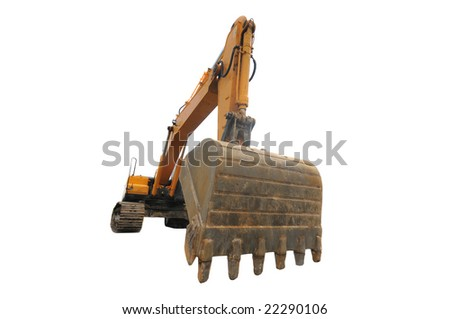 Big digger isolated on white