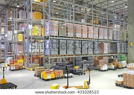Big Distribution Center Warehouse Building Interior