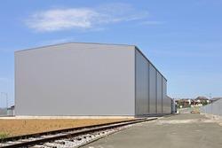 Big Distribution Warehouse Building Exterior
