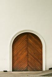 Big door at a wine cellar