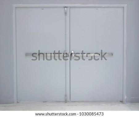 Big door for delivery goods in store