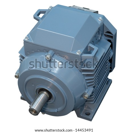 Big electric motor for conditioner fan isolated