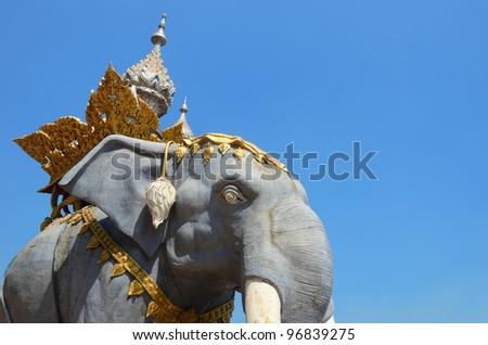 Big elephant statue (Golden Triangle, Chiangrai, Thailand)