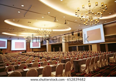 big empty modern meeting,seminar,conference room in hotel