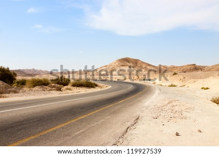 Big empty road in a mountains