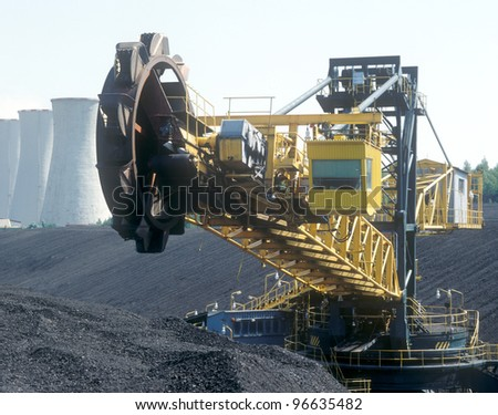 Big excavator used for mining.