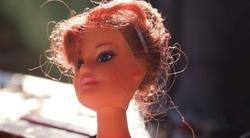 Big eyed plastic girl dolls sold in antique market