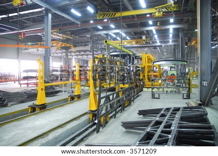 Big factory with a lot of machine tools. 9